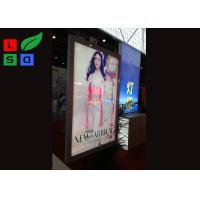 Quality Aluminum Framed Double Sided LED Light Box Magnetism For Shopping Mall Ceiling Sign for sale