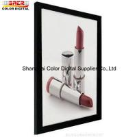 Single Side Slim LED Light Box Display With Siver And Black Color Manufactures