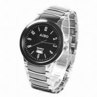 Fashionable Metal Watch with Quartz Movement, Luxurious Manufactures