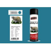Sheep And Tail Marking Spray Paint  Blue Color SGS Certification Easy To Use Manufactures