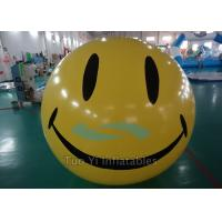 PVC Smiley Silk Screen Printed Helium Balloons For Advertising Manufactures