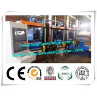 H beam welding line for steel bridge , Steel construction bridge rib assembling and welding machine Manufactures