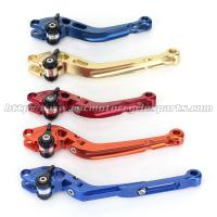 CNC Milled Motorbike Brake Levers / Long Style Clutch And Brake Levers For Street Bikes Manufactures