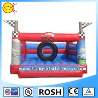 Small Cars Printing Commercial Inflatable Bouncers Water And Fire Proof Manufactures