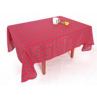 Hand Wash Checkered Table Cloth Easy Cleaning With Classical Lattice Design Manufactures