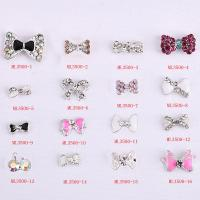 Hot NEW Wholesale nail art Jewelry 3D Bows Alloy Nail Art Jewelry Number ML3500-01-16 Manufactures