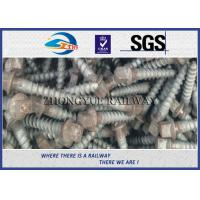 Oxide Black 4.6 Grade Railway Ss Series Sleeper Screw Spike With 35# Steel Material Manufactures