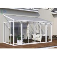 Popular White Powder Coated Aluminium Greenhouses For Residential ISO 9001 Certificate