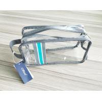 Luxury Reusable Soft PVC Cosmetic Bag , Clear Makeup Bag With Hand Loop Manufactures