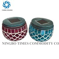 Glass Mosaic Solar Lights , Merry Nine Solar Powered Color Changing LED Lights Manufactures