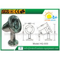 Scaffolding Waterproof Led Fountain Lights Low Voltage 3W High Power 0.65kg Manufactures