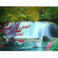 3D Sticker with 5 Colors Changing Effect, Made of Recycled PP, Non-toxic Manufactures