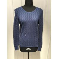 Different Material Women'S Pullover Sweater With 14gg Thin Plain Knitting Manufactures