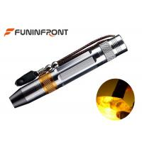 Quality Powerful Strong Light Stainless Steel Gem LED Flashlight with 3 Light Sources for sale