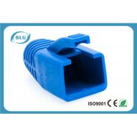 Blue Rubber Network Cable Accessories RJ45 Plug Boot For Cat7 Patch Cable Manufactures