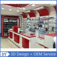 Custom Popular Retail Wood Glass Mobile Shop Counter Design For Mobile phone store