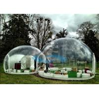 Clear Top Customized PVC Inflatable Dome Tent For Seeing Stars / Sun Set Manufactures