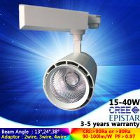 3/4 channel warm white 3000K 25W LED track light focus angle for gallery with 5 years warranty Manufactures