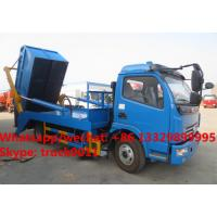 Quality Factory sale dongfeng 4*2 LHD 5m3 hydraulic hookling arm garbage truck, HOT SALE! dongfeng skid bon wastes vehicle for sale