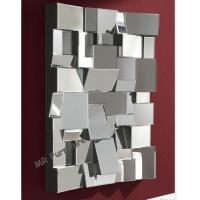 Decorative Faceted Wall Mirror , 80 * 110cm Size 3D Living Room Wall Mirror Manufactures