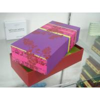 Cardboard Packaging Boxes With Lid , Paper Gift Towel Box 10 * 5 * 4 Inch Manufactures