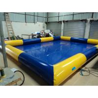 Blue Huge Inflatable Water Toys , Water Pool Aqua Park Facilities Manufactures