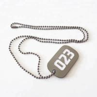 Wholesale soft enamel silver zinc metal dog tag with ball chain for souvenir; Manufactures