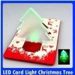 China Christmas Tree LED Card Pocket Light with Credit Card Size on sale