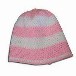 Women's Crochet Beanie Hat, Made of Acrylic, Handmade Manufactures