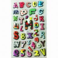 3-D Puffy/Foam Stickers, Available in Various Styles and Designs, OEM Orders are Welcome Manufactures