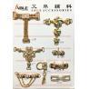 Crystal Rhinestones Metal Zinc Alloy Decorative Shoe Buckles Shoe Chain A46 A47 Manufactures