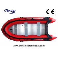 Heavy Duty PVC Foldable Inflatable Boat 6 Person Inflatable Dinghy With Motor Manufactures