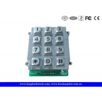 12 Keys Zinc Alloy Metal Keypad With Blue Backlight , vandal proof keypad 9 PIN connector Manufactures