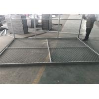 "6x14' Chain Link Fence Panels for Construction Tube 1⅗""(40mm)  1.8 oz/ft2[500g/m2] hot dipped galvanized  Cross Brace Manufactures"