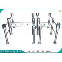 IR Sensor Multichannel Silvery Swing Gate Barrier For Community Manufactures