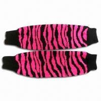 Legwarmers with Jacquard Knitted Pattern, Made of Acrylic Manufactures