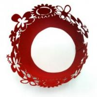 Quality Pantone Color Red Floral Laser Cut Decorative Cupcake Wrappers for wedding centerpieces for sale