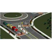 Solar Powered Wired Traffic Control Systems Safety Islands Circle B07