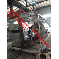 cheapest price skid lpg gas tank with auto lpg gas dispenser for sale, CLW brand 10m3 skid lpg gas filling station Manufactures