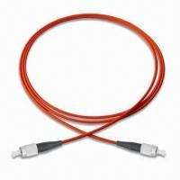 FC-FC Multimode Simplex Fiber-optic Patch Cord with High Temperature Stability Manufactures