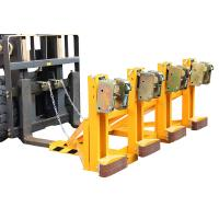 Four Drums Lifting Once Forklift Attachments Drum Handling for Library / Restaurant Manufactures
