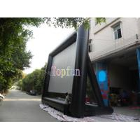 Durable Advertising Commercial Inflatable Movie Screen For Rental Business / 0.55mm PVC Tarpaulin Manufactures