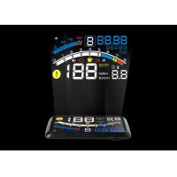 Car Led Hud 4e Mini Head Up Display Obd2 Interface 5.5 Inch Auto Power On / Off Manufactures