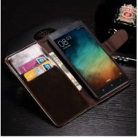 Redmi Note 3 Cell Phone Leather Wallet Case Anti - Dirt With Credit Card Slots Manufactures