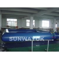 Safety Cool Blue Inflatable Swimming Pools In Summer Outdoor OEM Manufactures