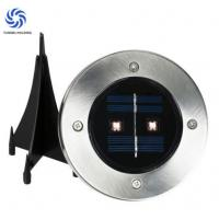 Quality Beautiful Outdoor Solar Deck Lights 2.4lm - 25 Lm Solar Powered Stair Lights With Spike for sale