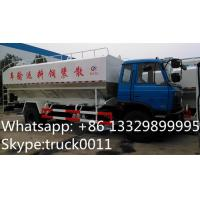 hot sale dongfeng brand LHD 190hp hydraulic system discharging lickstock fish feed delivery truck, feed delivery truck Manufactures