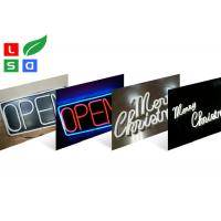 Quality Neon Flex LED Channel Letter Signs Front - Lit With Clear Acrylic Back Plate for sale