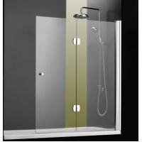 Clear Glass Overbath Shower Screen / Brass Hinges Folding Shower Screens For Baths Manufactures