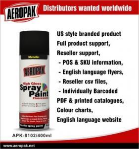 Metallic Aerosol Spray Paints / Acrylic Spray Paint Black For Wood Furniture Manufactures